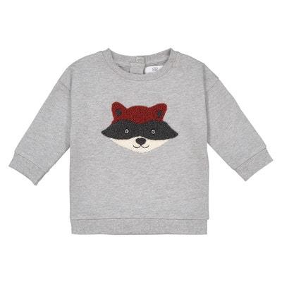 Sweater met vossenprint vooraan, 1 mnd - 3 jaar Sweater met vossenprint vooraan, 1 mnd - 3 jaar LA REDOUTE COLLECTIONS