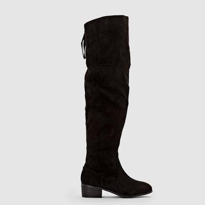 La Redoute Collections Boots Cuir À Talon Évasé Femmes