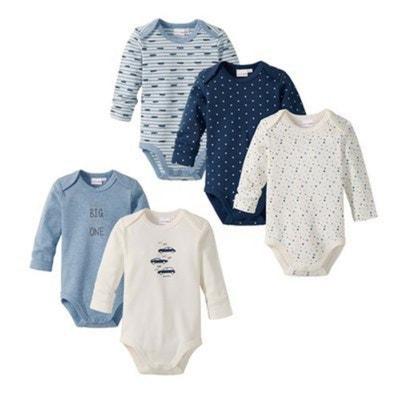 Bornino Le lot de 5 bodys à manches longues bébé BORNINO 8acb015194c