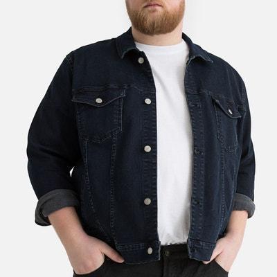 a823b64a0f12 Veste en jean grande taille Veste en jean grande taille CASTALUNA FOR MEN