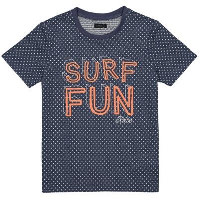 T-shirt met stippen en tekst 4-14 jaar T-shirt met stippen en tekst 4-14 jaar IKKS JUNIOR