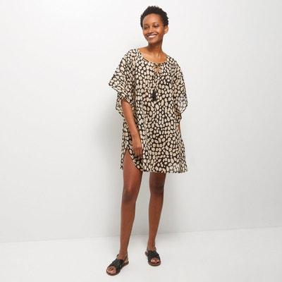Femmes tunique robe plage tunique robe soirée a-ligne Coton Long