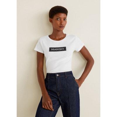 2706abf99372 T-shirt imprimé logo T-shirt imprimé logo MANGO