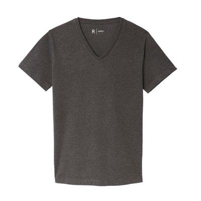 a8f6ab2328db0c Tee shirt THEO col V en coton Tee shirt THEO col V en coton LA REDOUTE