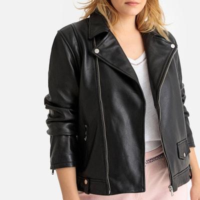 6e1ed822a1 Leather Biker Jacket Leather Biker Jacket CASTALUNA PLUS SIZE