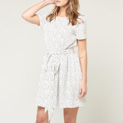 a9262e34 Marilyn Short-Sleeved Dress with V-Back LE TEMPS DES CERISES