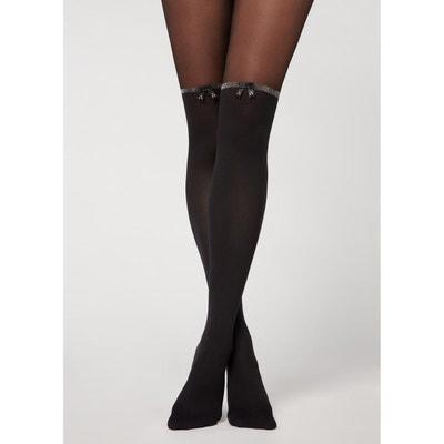 6 Paires,Taille unique,Noir SATINIOR Chaussettes Hautes en Coton Casual Chaussettes Hautes en Tricot Chaussettes de D/émarrage pour Femmes