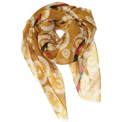 4c63efbe99c8 Foulard en étamine de laine texturée - OUZBECK FLOWER Foulard en étamine de  laine texturée -