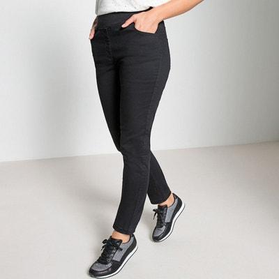 Pantalon droit, 5 poches, coton, taille élastiquée ANNE WEYBURN a5254975e6b