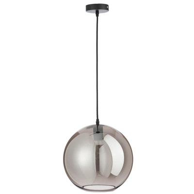 Lampe boule verre argent large JOLIPA 26fe2162cd0b