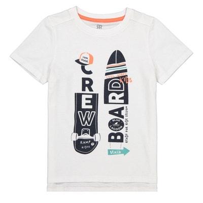 b0e3a368fa539 T-shirt imprimé devant Oeko-Tex 3-12 ans LA REDOUTE COLLECTIONS