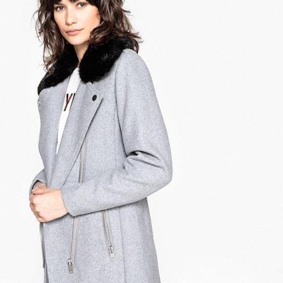 Manteau en laine femme kaki