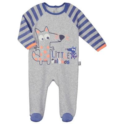 Pyjama bébé velours Little Friends Pyjama bébé velours Little Friends PETIT  BEGUIN f7a04e28c24