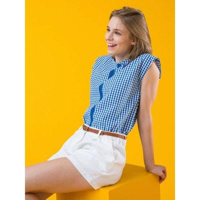 Short femme pur lin à plis ade213e4bfa