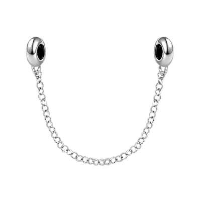 9e01b5e55270 Chaînette de Sécurité pour Bracelet Charms Argent 925 - Compatible Pandora,  Trollbeads, Chamilia,. SO CHIC BIJOUX