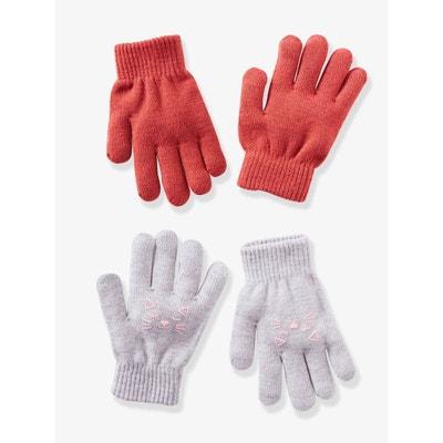 201e7805d4ad Lot de 2 paires de gants taille unique fille Lot de 2 paires de gants  taille. Soldes. VERTBAUDET