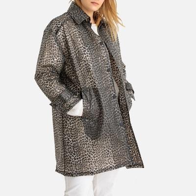 98f5d02de2d Leopard Print Transparent Waxed Jacket Leopard Print Transparent Waxed  Jacket CASTALUNA PLUS SIZE