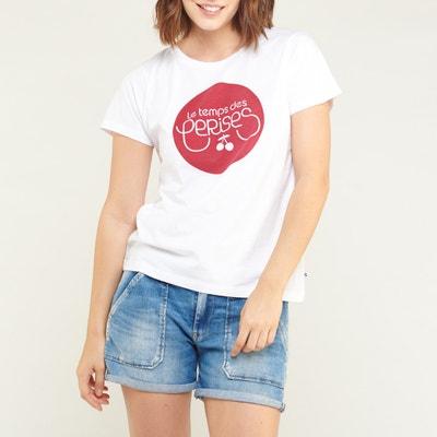 Camiseta con cuello redondo de manga corta y estampado delante Camiseta con  cuello redondo de manga. -30% cód  30TODO. LE TEMPS DES CERISES 278f42e9d71e