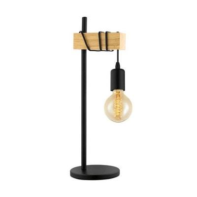 TOWNSHEND-Lampe à poser Bois H50cm TOWNSHEND-Lampe à poser Bois H50cm EGLO  LIGHTING faf995705f56