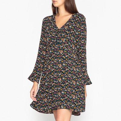 best cheap cfa7e f3b62 Платье расклешенное с цветочным рисунком DARIA FLEURS NOIR Платье  расклешенное с цветочным рисунком DARIA FLEURS NOIR