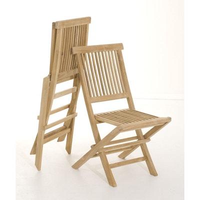 Chaise de jardin en teck   La Redoute