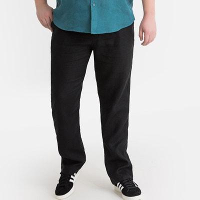 87318344f Pantalón 100% lino con cintura elástica Pantalón 100% lino con cintura  elástica CASTALUNA FOR