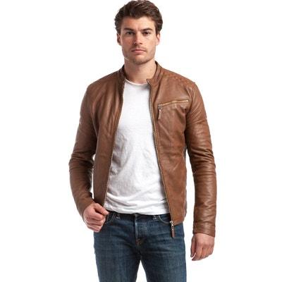 646d242c9a9 Veste style perfecto en cuir d agneau CHYSTON