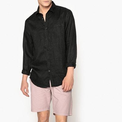 50aeb8caa26 Рубашка прямого покроя из льна Clément Рубашка прямого покроя из льна  Clément LA REDOUTE COLLECTIONS