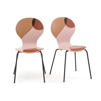 Set van 2 bedrukte stoelen BONNA Set van 2 bedrukte stoelen BONNA LA REDOUTE INTERIEURS