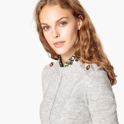 30fb25a95b8 Пуловер с круглым вырезом и застежкой на пуговицы из шерсти ягненка LA  REDOUTE COLLECTIONS