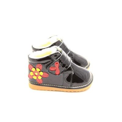 d4c6c8147fe29 Chaussures semelle souple montantes avec fleur FREYCOO
