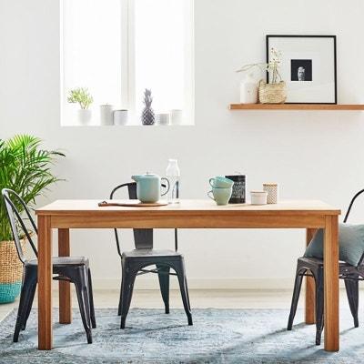 Table de salle a manger en teck | La Redoute