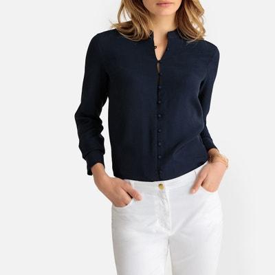 8f35740c9f7 Рубашка со стоячим воротником и длинными рукавами Рубашка со стоячим  воротником и длинными рукавами ANNE WEYBURN