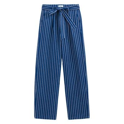 b5f5f56c3 Jeans largos às riscas, cintura subida LA REDOUTE COLLECTIONS