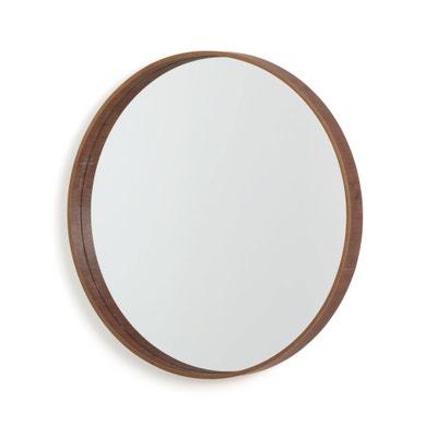 Ronde spiegel in notelaar Alaria Ronde spiegel in notelaar Alaria LA REDOUTE INTERIEURS