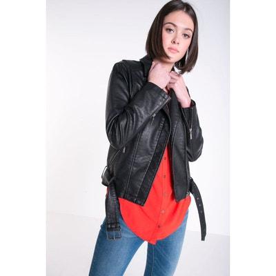 0788d53ecdd11 Veste en cuir et simili femme en solde | La Redoute