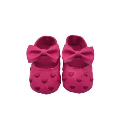 Girls' Clothing (newborn-5t) Sandales Coton Tricote Pour Bebe Naissance Creme Paire De Chaussons