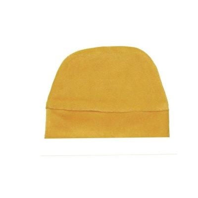 Bonnet bébé velours jaune, 0 au 24 mois POUSSIN BLEU 02b1fc8460d