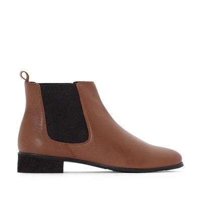 bef02611185374 Grande Taille. Boots chelsea en cuir, pied large 38-45 Boots chelsea en  cuir, pied