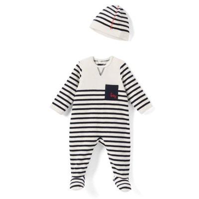 ace7fd5a94a8 Pyjama rayé avec bonnet 0 - 3 ans Pyjama rayé avec bonnet 0 - 3 ans