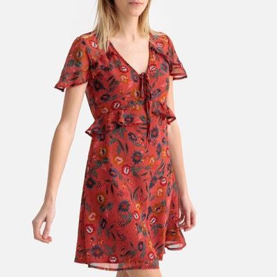 cbf235eeb9a Robe fleurie manches courtes et poitrine volantées Robe fleurie manches  courtes et poitrine volantées MOLLY BRACKEN