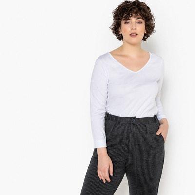 4f57f4346aec T shirt femme grande taille manches longues - Castaluna