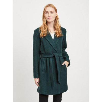 428f312a3087e Manteau en drap de laine, ceinturé à la taille VILA