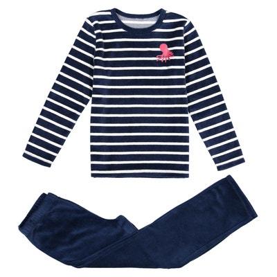 9e45d5a88be58 Pyjama velours, manches longues, 3-12 ans LA REDOUTE COLLECTIONS