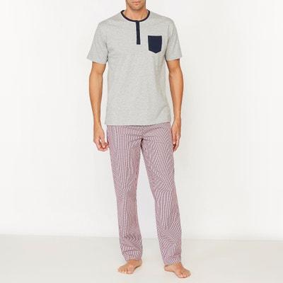 ea7d4b33f83 Pijama com calças aos quadrados Pijama com calças aos quadrados LA REDOUTE  COLLECTIONS
