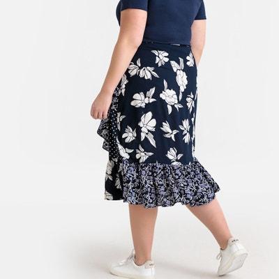 cf2e0c9b23372b Floral Patchwork Midi Ruffled Skirt Floral Patchwork Midi Ruffled Skirt  CASTALUNA PLUS SIZE