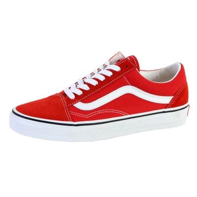 vans rouge plateforme
