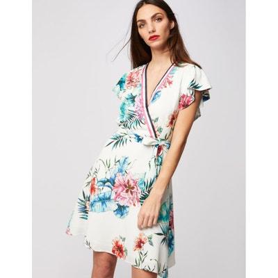 76d30df3ff3 Robe portefeuille à motif floral MORGAN