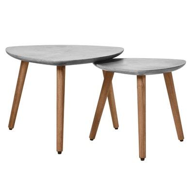 78805048512 Table basse gigogne Goma en béton (lot de 2) RENDEZ VOUS DECO