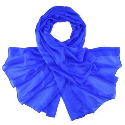 Etole soie bleu roi Etole soie bleu roi ALLEE DU FOULARD 5b89e3a33d5